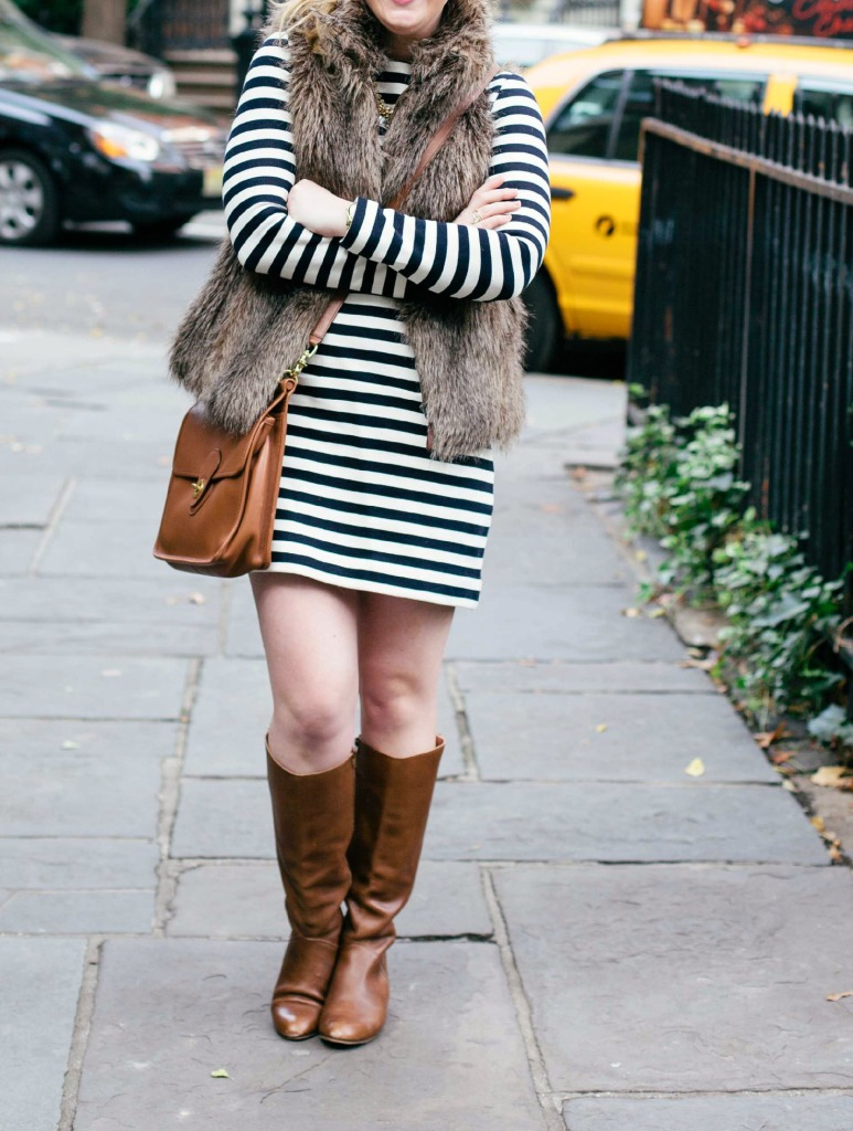 Stripes and Faux Fur I wit & whimsy