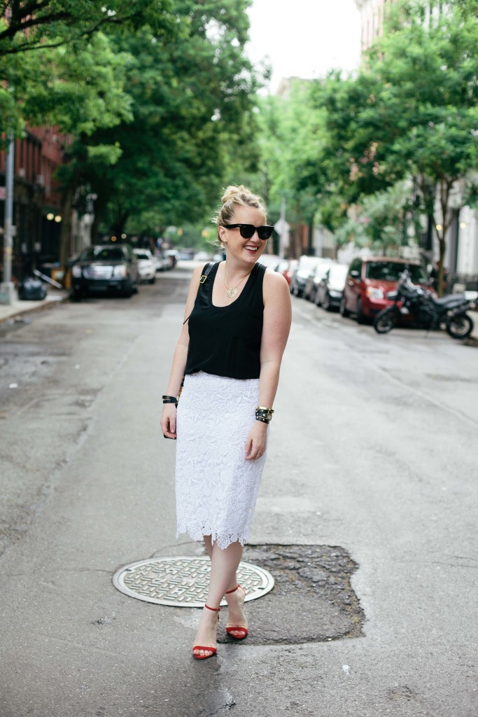 banana republic lace pencil skirt I wit & whimsy