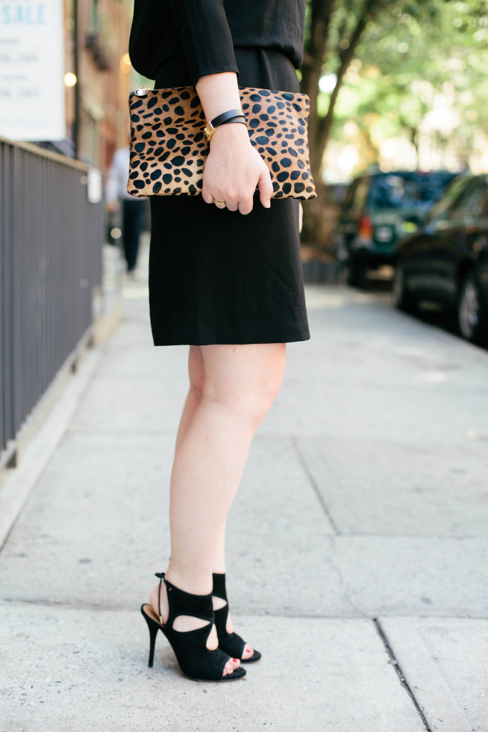wit & whimsy I clare v leopard clutch