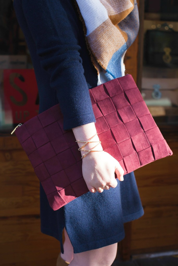 Burgundy Clutch I wit & whimsy