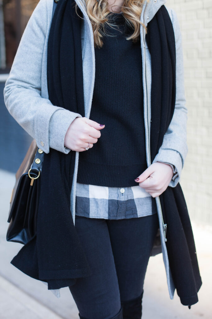 Layered in Black and Gray