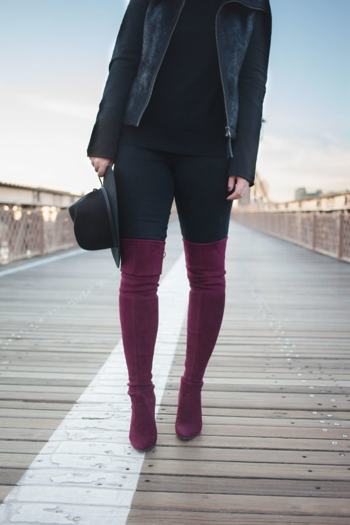 Bordeaux Over the Knee Boots I wit & whimsy