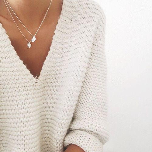 Chunky Knit I Delicate Necklaces