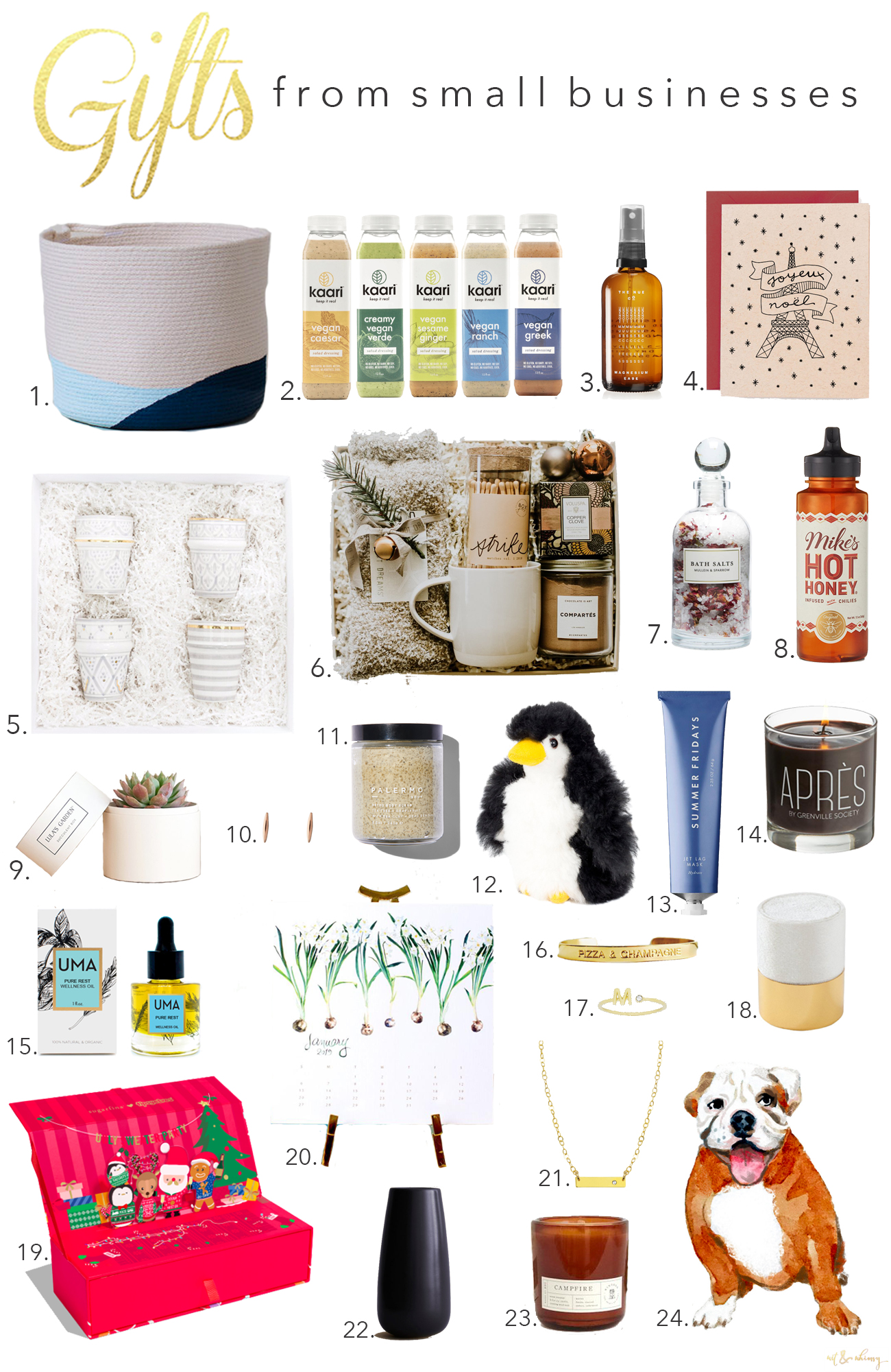 gift ideas from small businesses wit whimsy